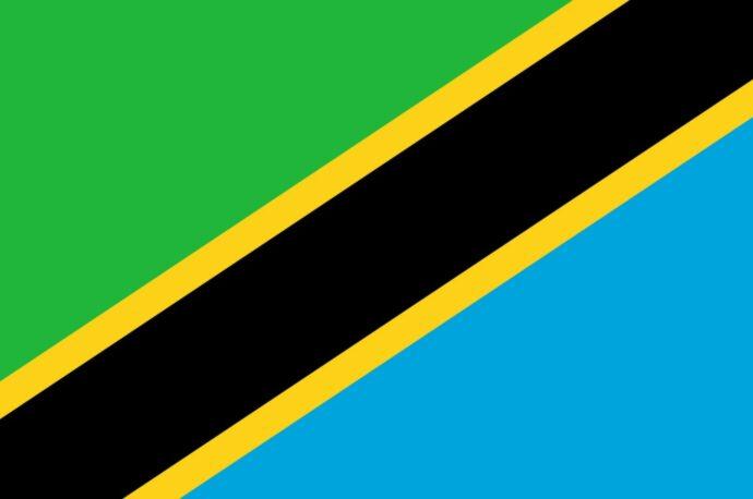 The flag of Tanzania